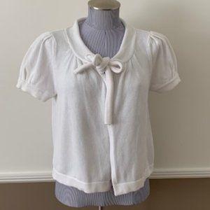 White Cotton Shrug - Size Large